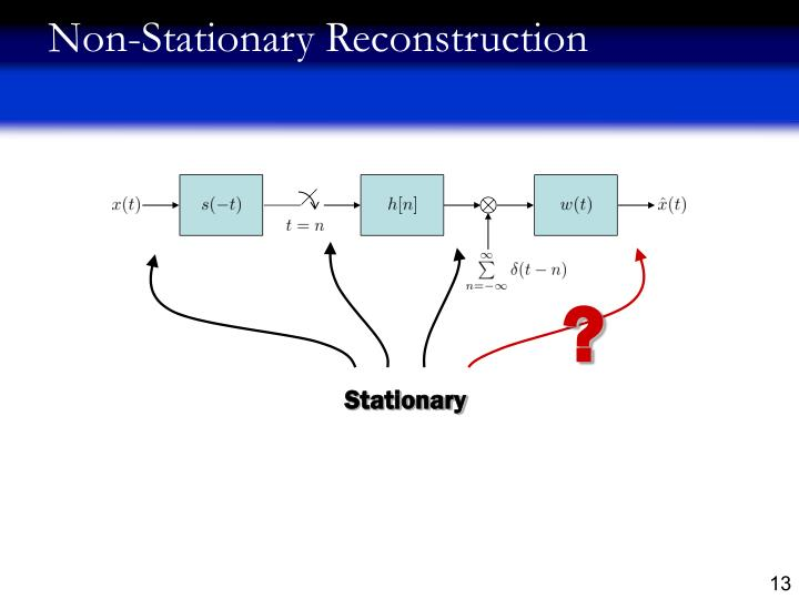 Non-Stationary Reconstruction