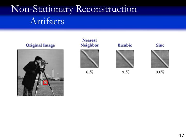 Non-Stationary Reconstruction