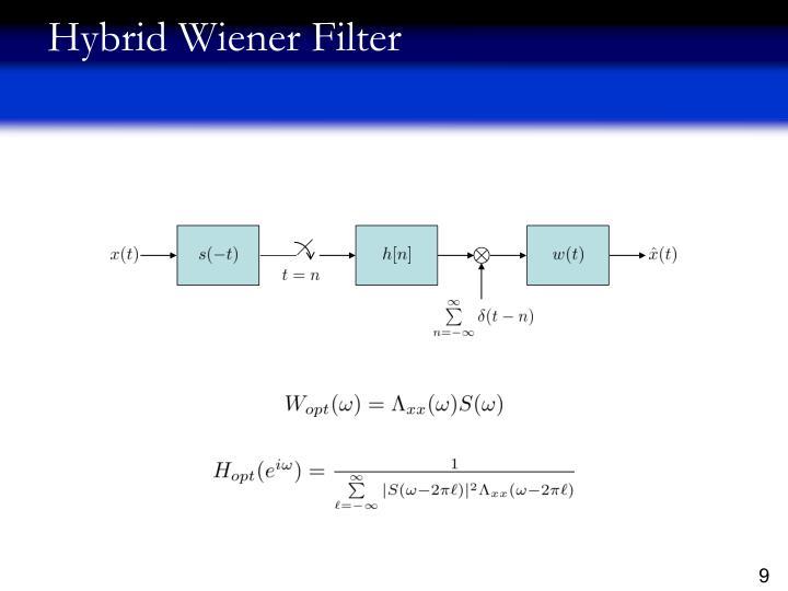 Hybrid Wiener Filter