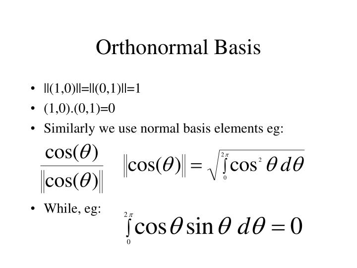Orthonormal Basis