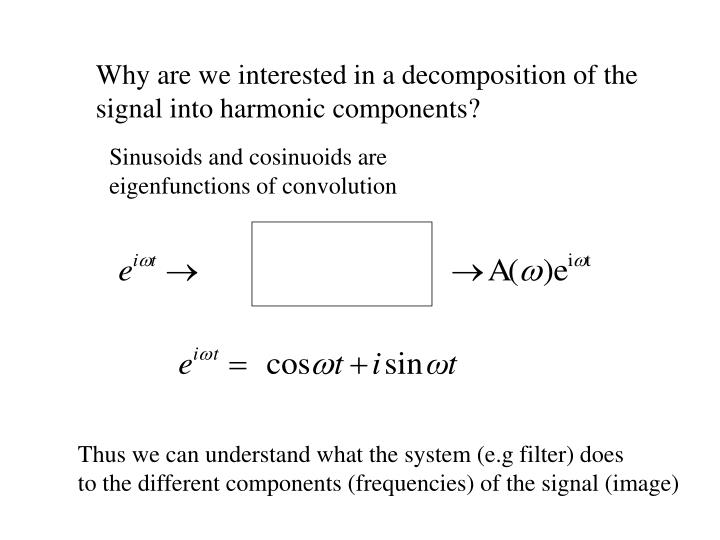 Why are we interested in a decomposition of the