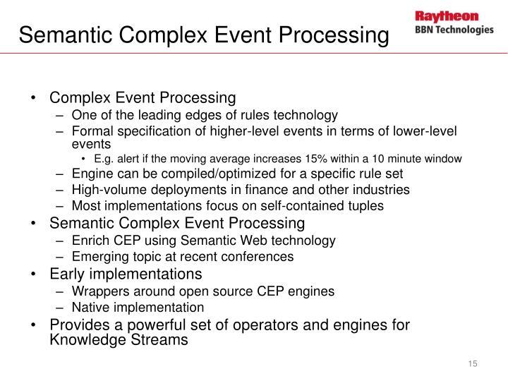 Semantic Complex Event Processing