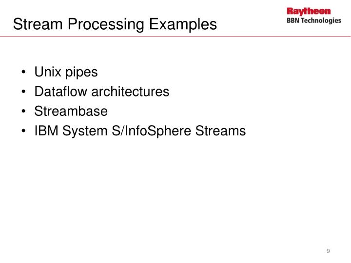 Stream Processing Examples