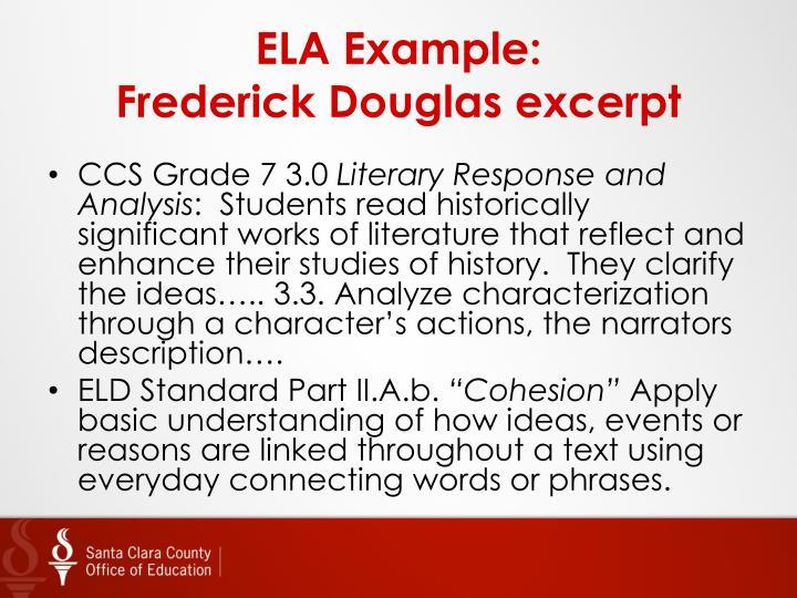 ELA Example: