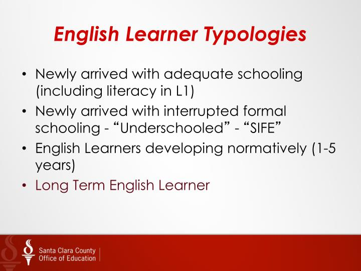 English learner typologies
