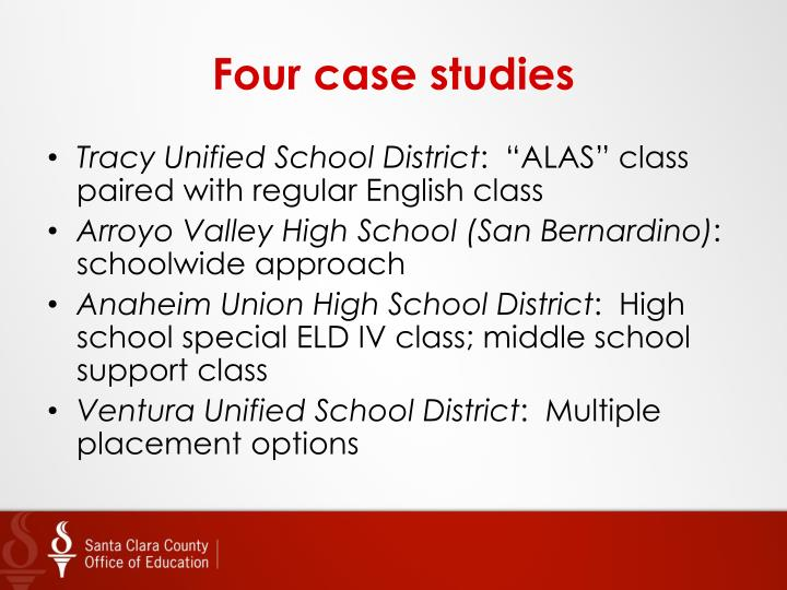 Four case studies