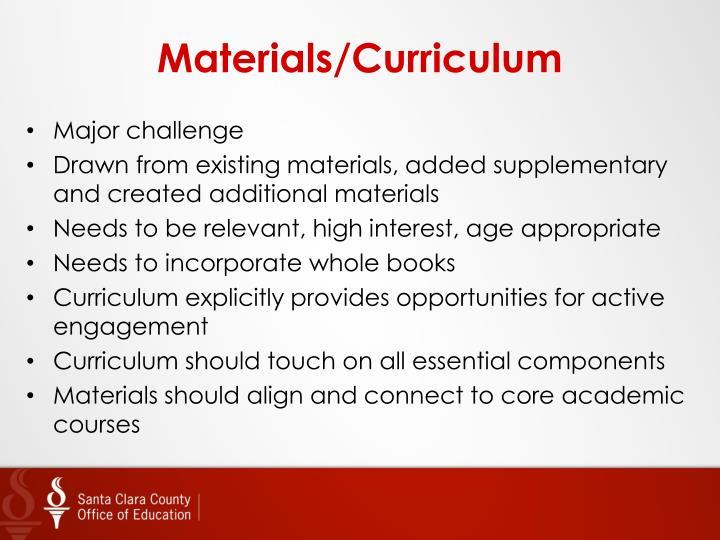 Materials/Curriculum