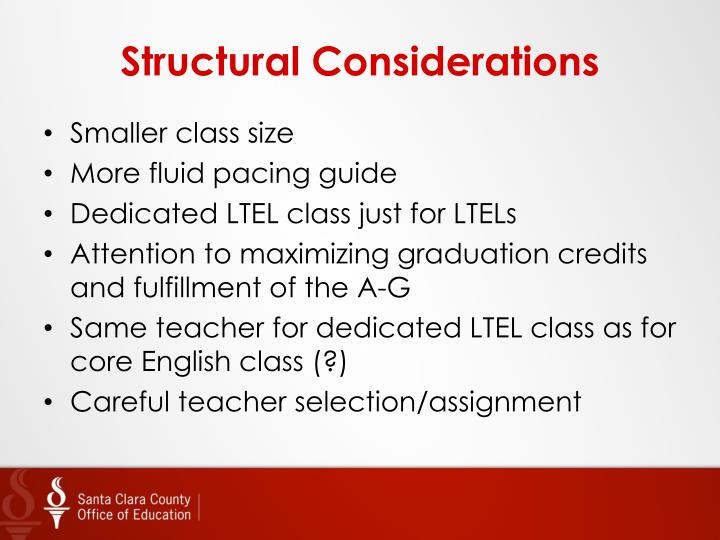 Structural Considerations