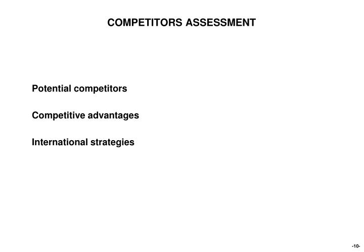 COMPETITORS ASSESSMENT