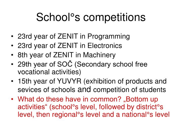 School°s competitions