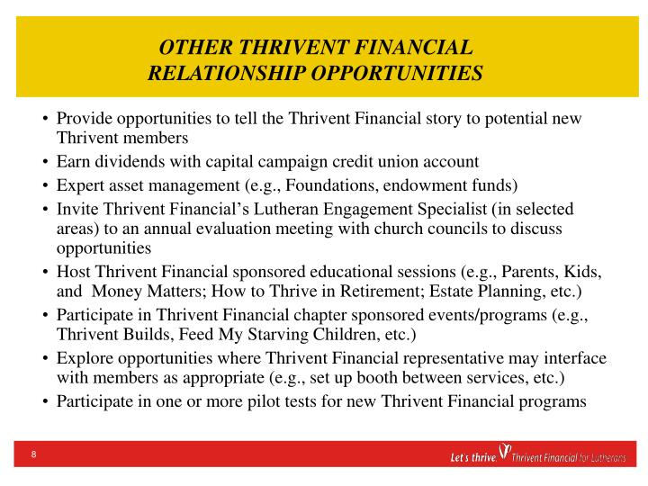 OTHER THRIVENT FINANCIAL