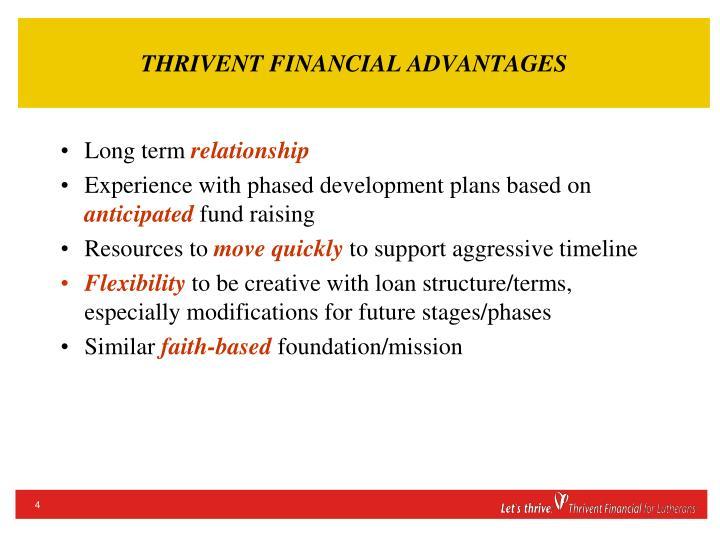 THRIVENT FINANCIAL ADVANTAGES