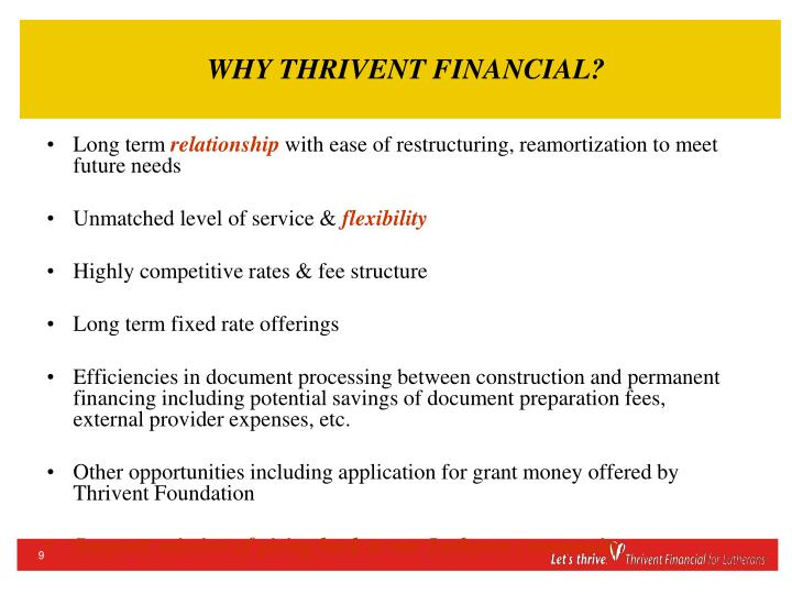 WHY THRIVENT FINANCIAL?