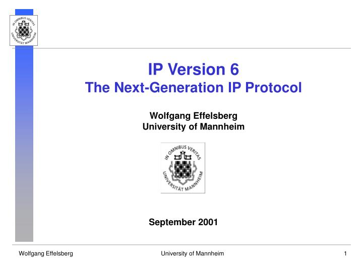 IP Version 6