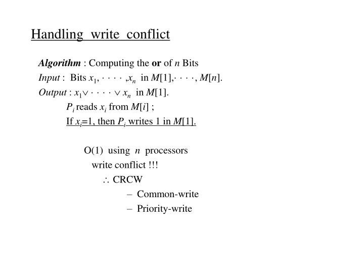 Handling  write  conflict