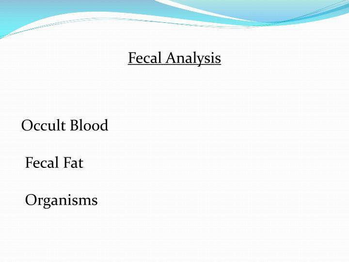 Fecal Analysis