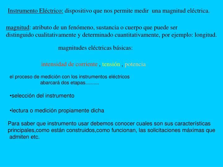 Instrumento Eléctrico: