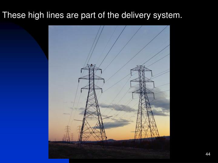 These high lines are part of the delivery system.