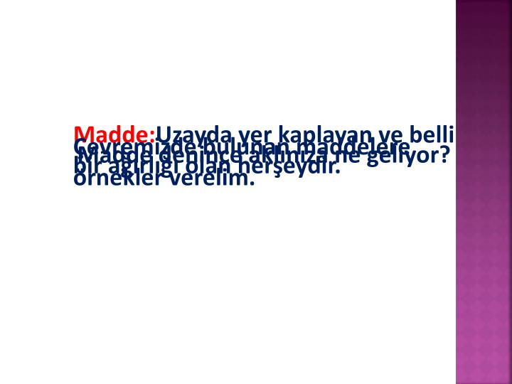 Madde: