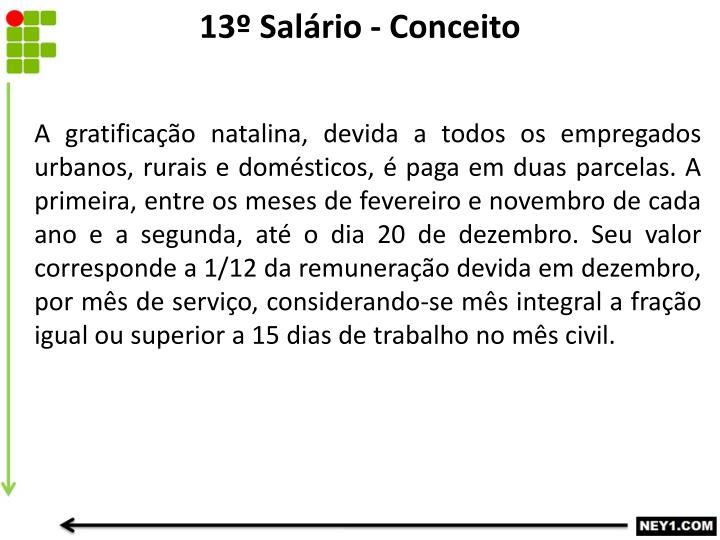 13º Salário - Conceito