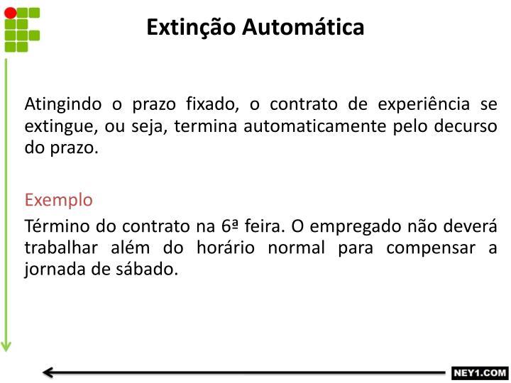 Extinção Automática