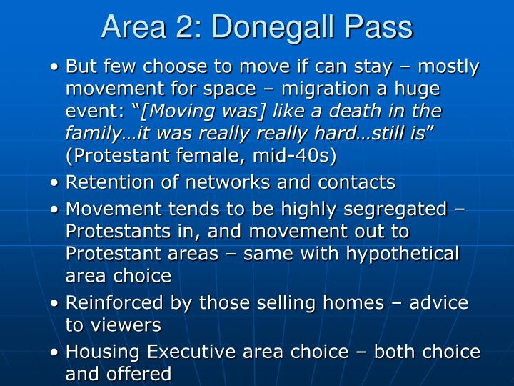 Area 2: Donegall Pass