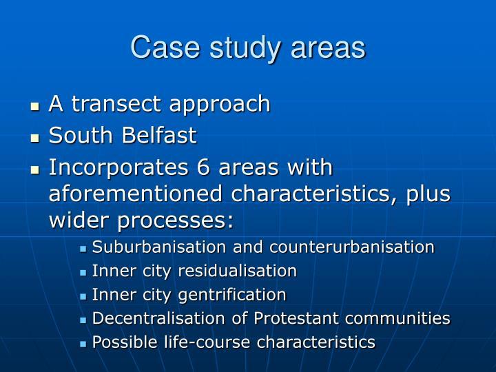 Case study areas