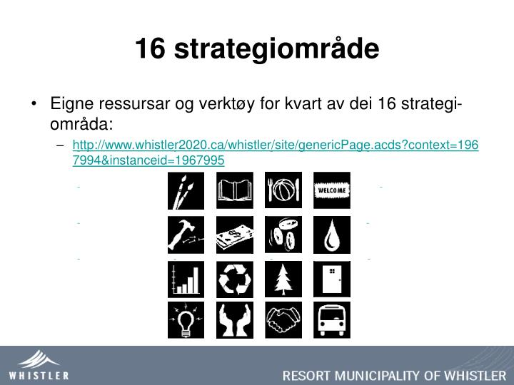 16 strategiområde