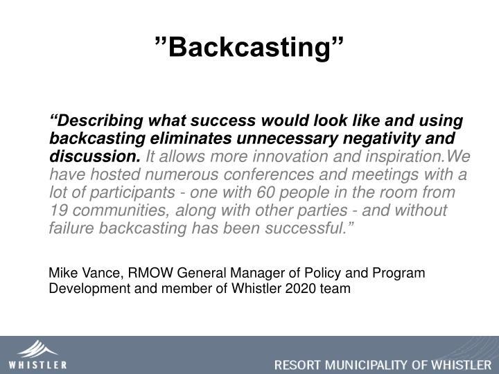 """Backcasting"""