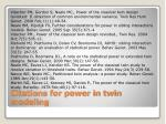 citations for power in twin modeling