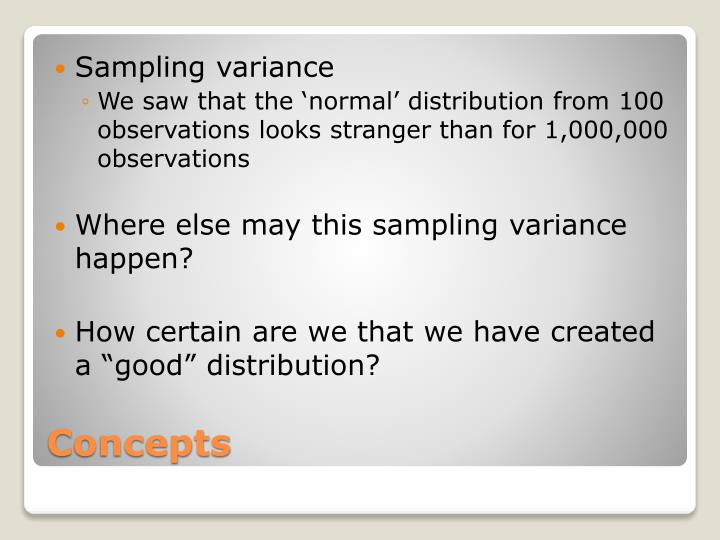 Sampling variance