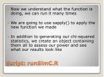 script runsimc r