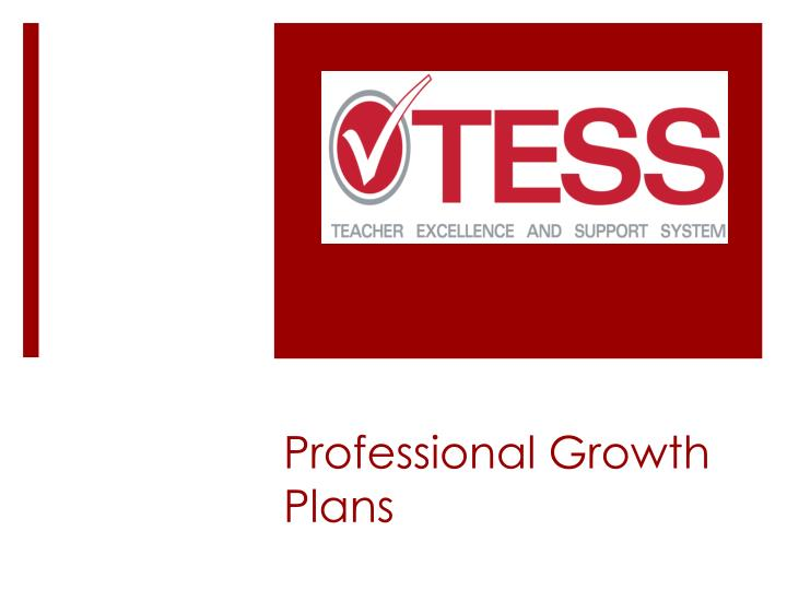 Professional growth plans
