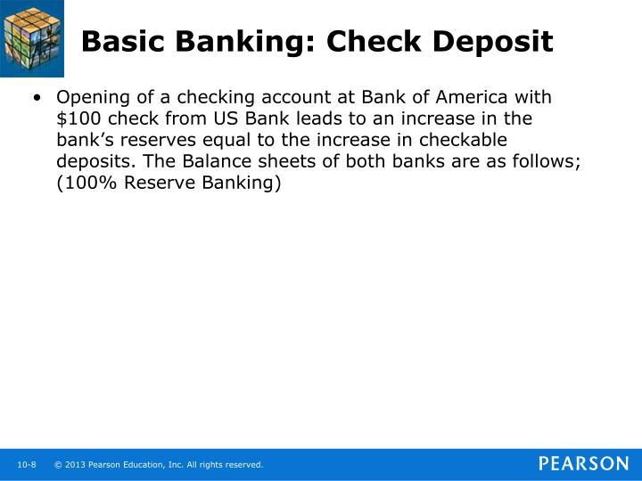 Basic Banking: Check Deposit