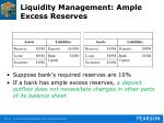 liquidity management ample excess reserves