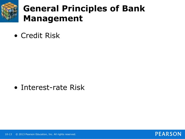 General Principles of Bank Management