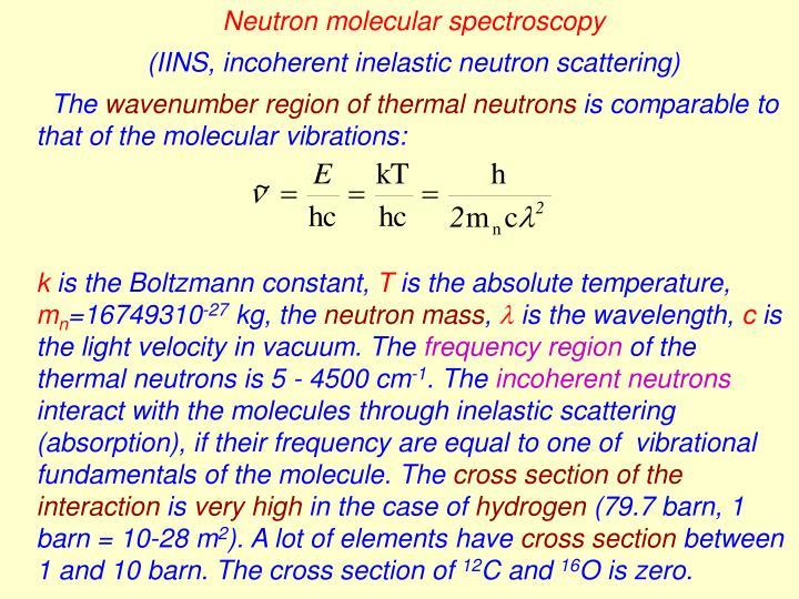 Neutron molecular spectroscopy