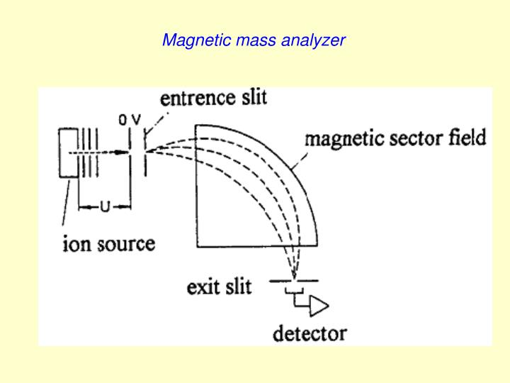 Magnetic mass analyzer