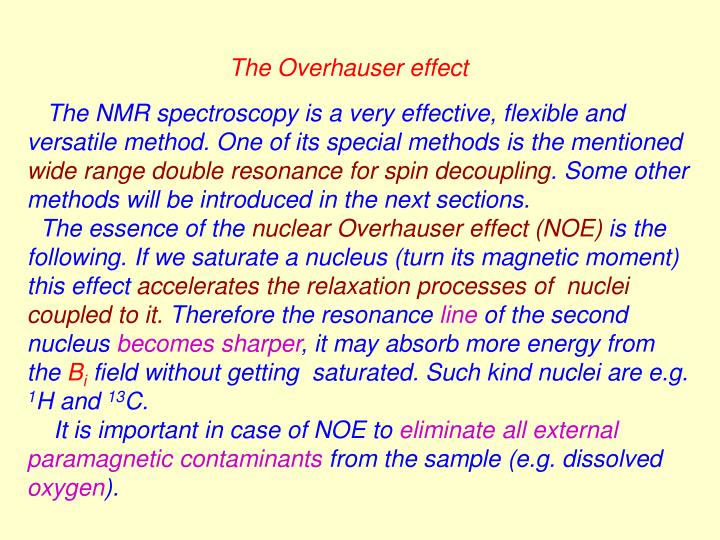 The Overhauser effect