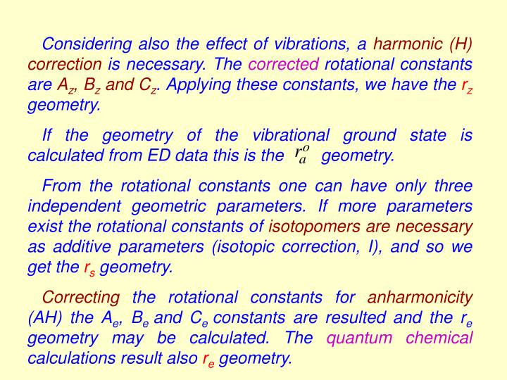 Considering also the effect of vibrations, a