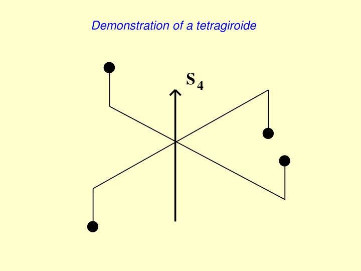 Demonstration of a tetragiroide