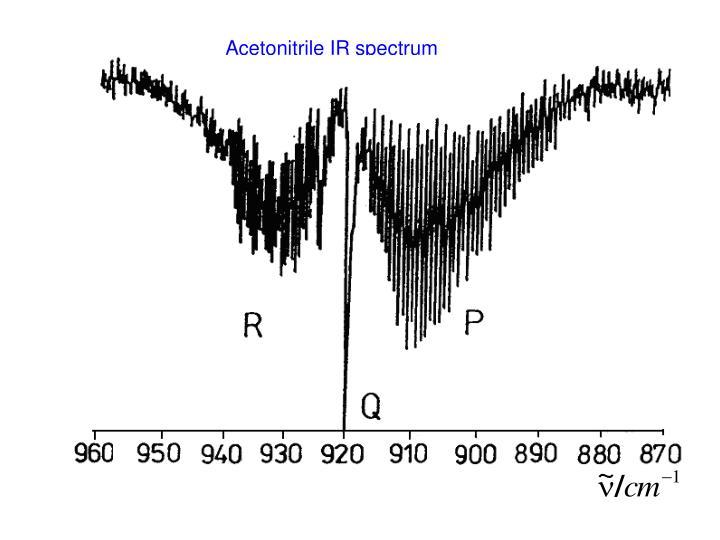 Acetonitrile IR spectrum