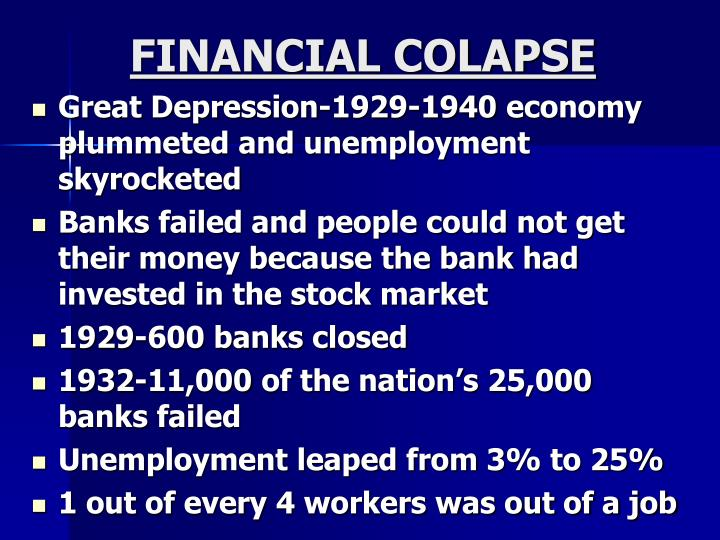 FINANCIAL COLAPSE