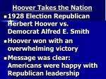 hoover takes the nation