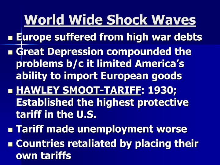 World Wide Shock Waves