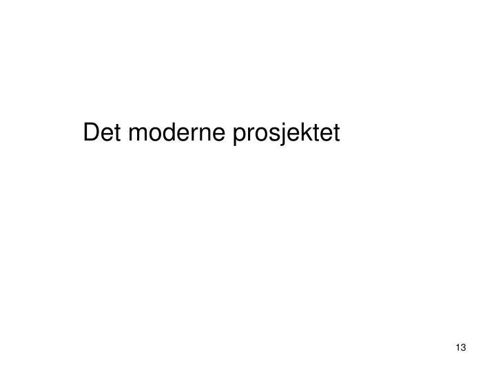 Det moderne prosjektet