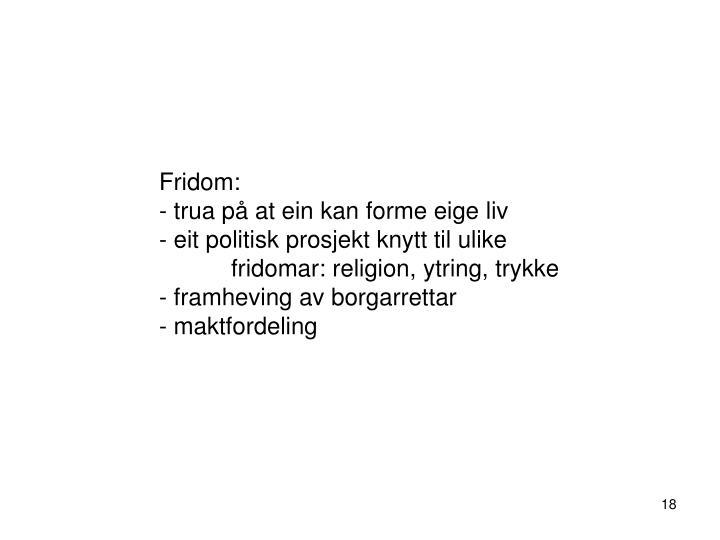 Fridom: