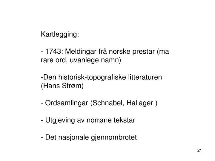 Kartlegging: