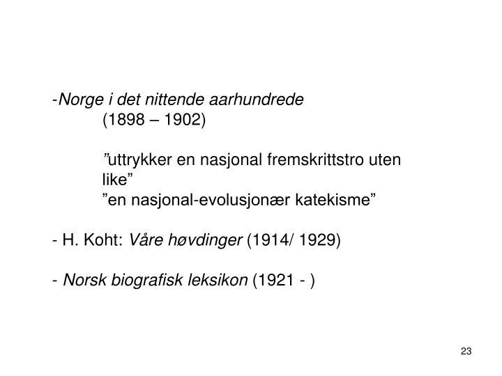 Norge i det nittende aarhundrede