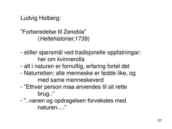 Ludvig Holberg: